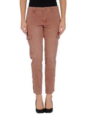 Повседневные брюки MONOCROM. Цвет: телесный