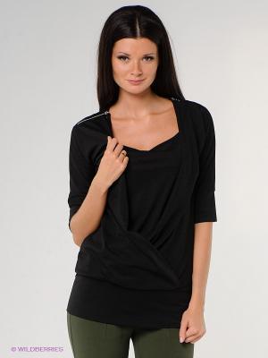 Блузка Viaggio. Цвет: черный