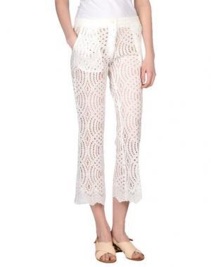Повседневные брюки AISHHA. Цвет: белый