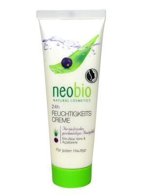 Neobio 24 часа  увлажняющий крем. Цвет: белый