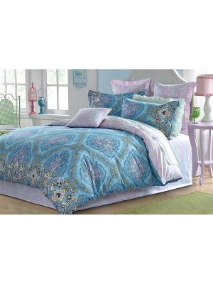 Комплект постельного белья 1,5 сп. сатин, рисунок 627 LA NOCHE DEL AMOR. Цвет: голубой