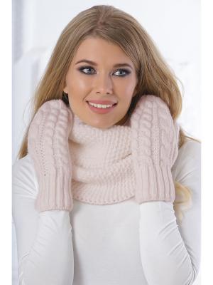 Варежки Siberika. Цвет: светло-бежевый, бежевый, кремовый