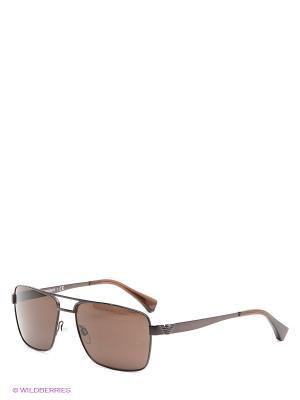 Очки солнцезащитные Emporio Armani. Цвет: темно-коричневый