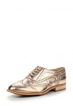 Ботинки LOST INK. Цвет: золотой