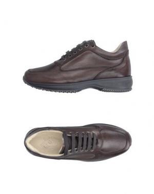 Низкие кеды и кроссовки BRUNO VERRI. Цвет: темно-коричневый