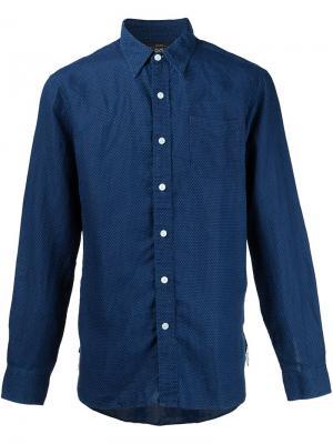 Рубашка в горох Rrl. Цвет: синий