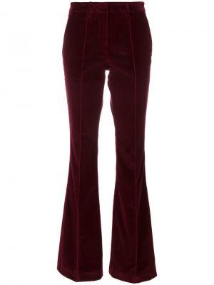Бархатные брюки клеш Etro. Цвет: красный