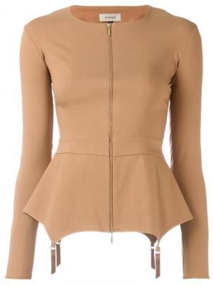 Fold blouse Murmur. Цвет: телесный