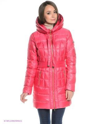 Пальто Finn Flare. Цвет: розовый