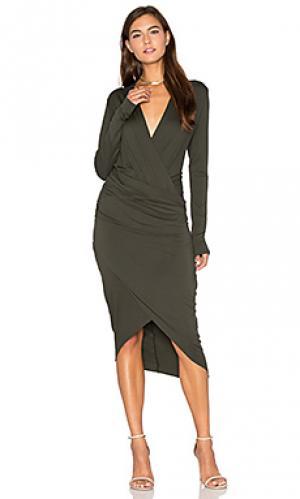 Платье cassie CHARLI. Цвет: темно-зеленый