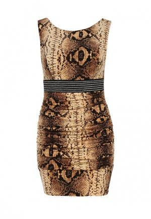 Платье Corleone. Цвет: коричневый