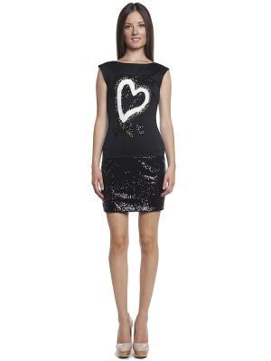 Платье TOPSANDTOPS. Цвет: черный, белый