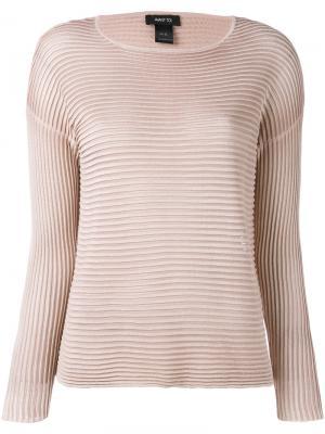 Джемпер в рубчик Avant Toi. Цвет: розовый и фиолетовый