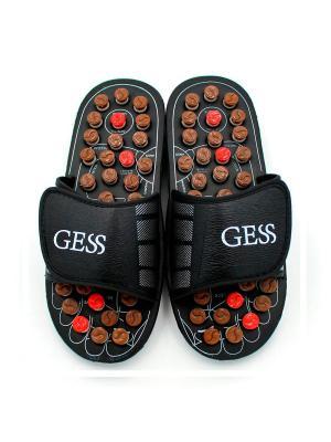 Рефлекторные массажные тапочки uFoot XL 44-45 Gess. Цвет: черный