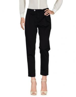 Повседневные брюки OAKS. Цвет: черный