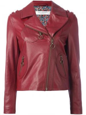 Байкерская куртка на молнии Philosophy Di Lorenzo Serafini. Цвет: красный