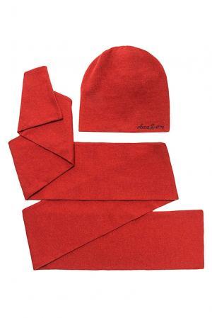 Комплект из шерсти с кристаллами Swarovski (шапка и шарф) 153237 Anna Jollini