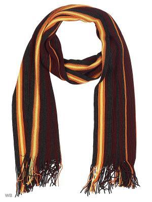 Шарф VICENTE. Цвет: темно-бордовый, темно-серый, желтый