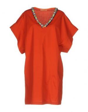 Короткое платье MACRÍ. Цвет: оранжевый