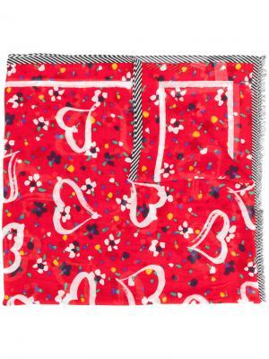 Платок с принтом Marc Jacobs. Цвет: красный