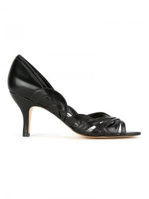 Кожаные туфли-лодочки Serpui. Цвет: чёрный