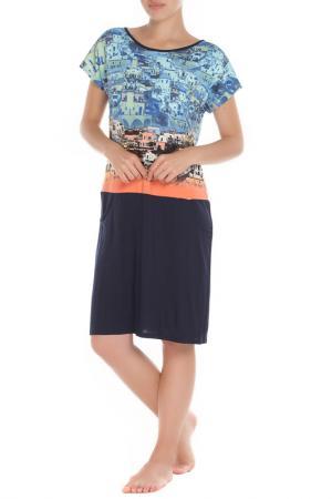 Платье ALFA. Цвет: темно-синий