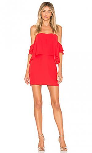 Платье brentwood Amanda Uprichard. Цвет: красный