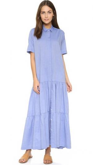 Платье Dora Otto d'ame. Цвет: цветные джинсы