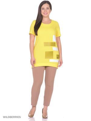 Блузка Фарт Фаворита. Цвет: желтый