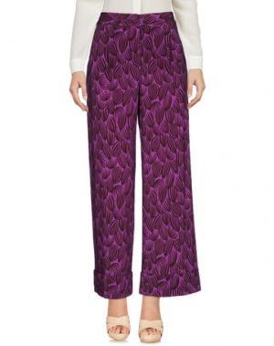 Повседневные брюки SIYU. Цвет: фиолетовый