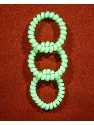Резинка пружинка 3 шт. Bizon. Цвет: зеленый