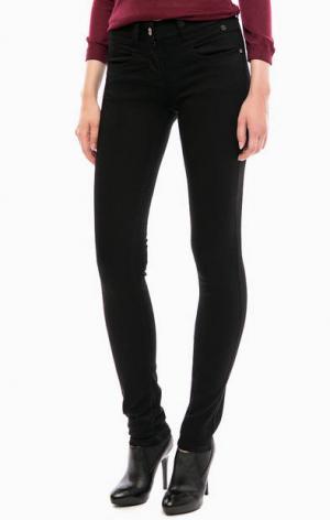 Черные брюки на молнии с четырьмя карманами TOM TAILOR. Цвет: черный
