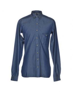 Джинсовая рубашка GOLDEN GOOSE DELUXE BRAND. Цвет: синий