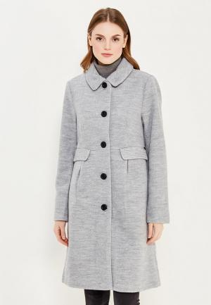 Пальто Numph. Цвет: серый