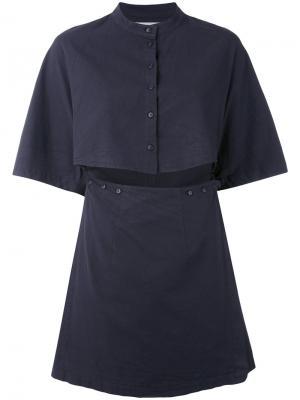 Платье с вырезной деталью Eckhaus Latta. Цвет: чёрный