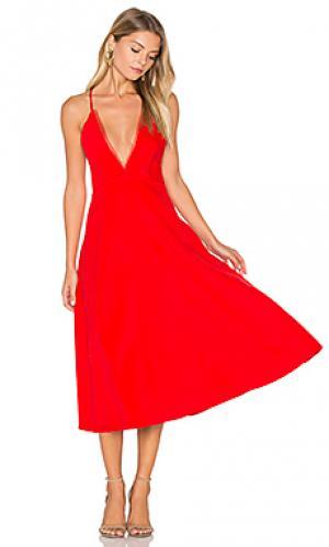 Платье миди magda VIVIAN CHAN. Цвет: красный