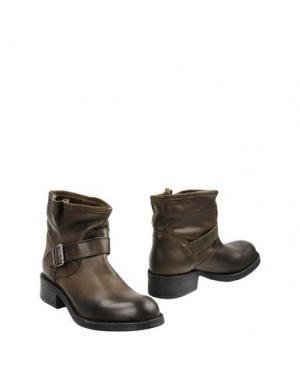 Полусапоги и высокие ботинки FABRIZIO CHINI. Цвет: зеленый-милитари