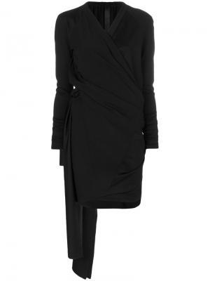 Платье с запахом драпировками Ilaria Nistri. Цвет: чёрный
