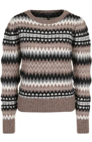 Шерстяной пуловер с принтом Marc Jacobs. Цвет: серо-бежевый