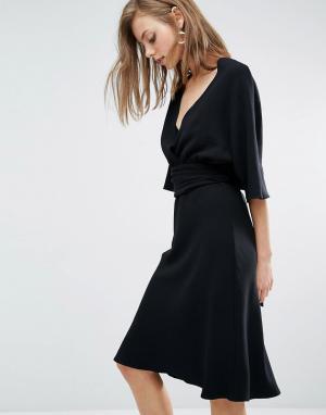 BA&SH Платье с отдельной блузкой Miranda. Цвет: черный
