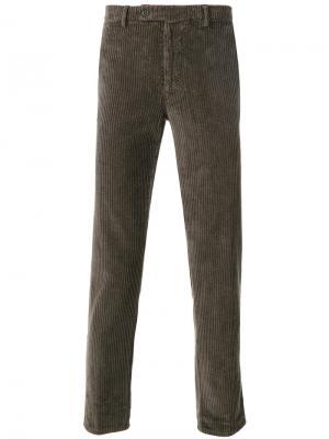Прямые брюки Berwich. Цвет: коричневый