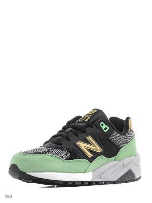 Кроссовки NEW BALANCE 580. Цвет: зеленый