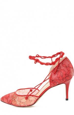 Туфли Bionda Castana. Цвет: красный