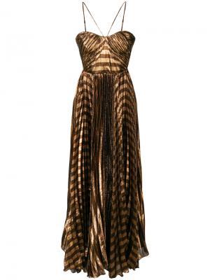 Вечернее платье Gaia Maria Lucia Hohan. Цвет: коричневый