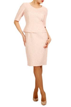 Жаккардовое платье с имитацией костюма Lamiavita. Цвет: розовый
