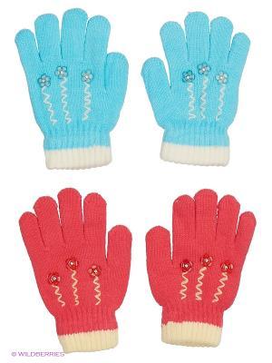 Перчатки FOMAS. Цвет: голубой, белый, коралловый, молочный