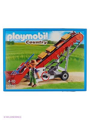 Ферма: Мобильный Ленточный конвейер Playmobil. Цвет: красный