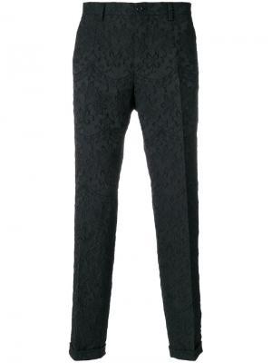 Жаккардовые брюки Dolce & Gabbana. Цвет: чёрный