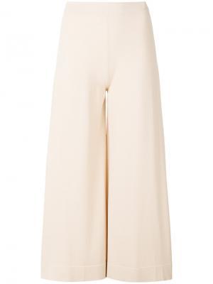 Укороченные брюки с высокой талией D.Exterior. Цвет: телесный