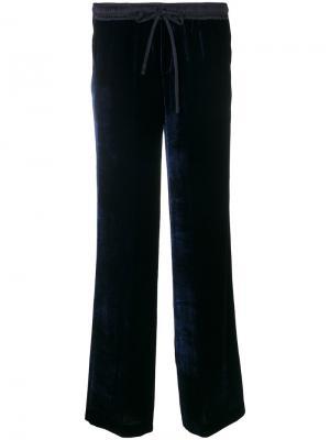 Строгие брюки клеш P.A.R.O.S.H.. Цвет: синий